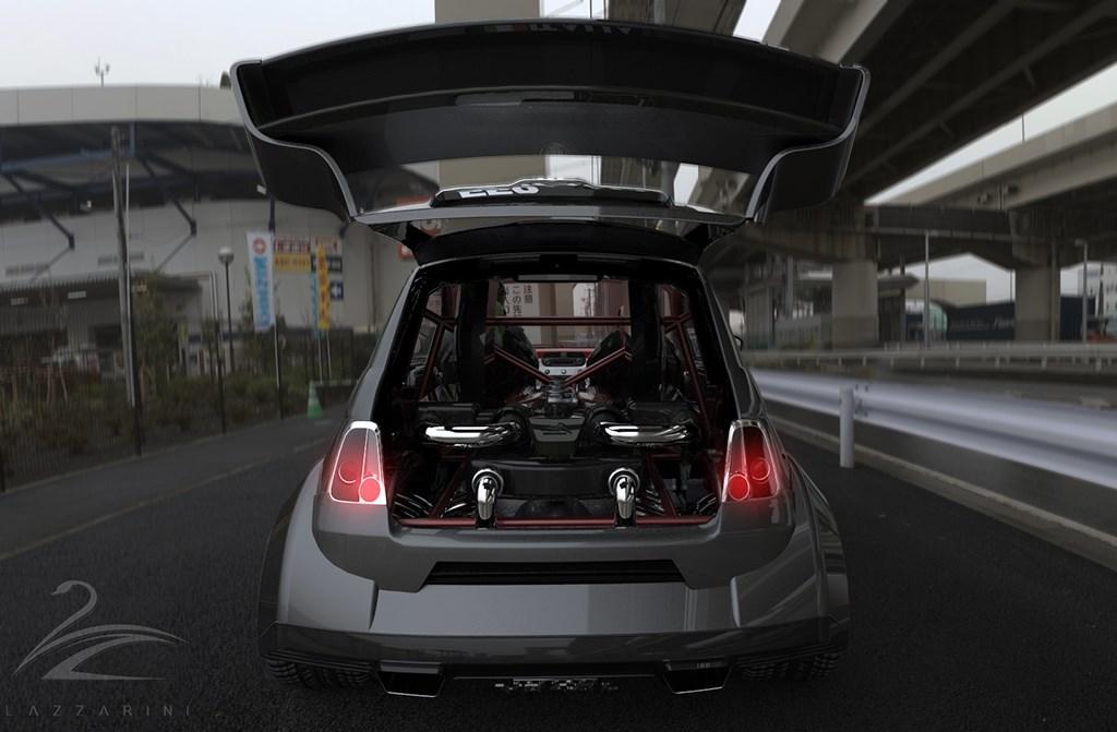 O Que Diria A Um Fiat 500 Com Um Motor V8 De Um Ferrari Loucura